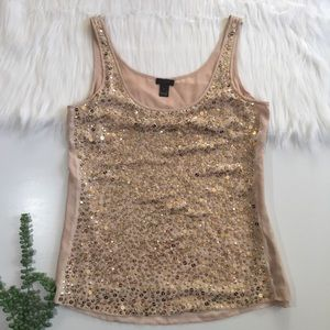 J. Crew Collection | Blush Sequin Tank | Size 6